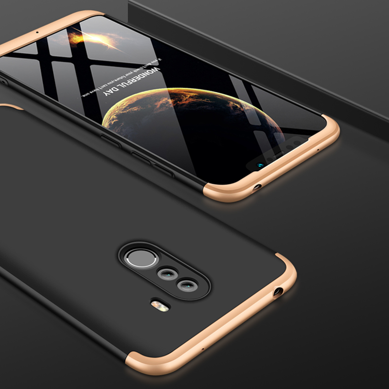 For Xiaomi Pocophone F1 Luxury 3-IN-1 Case 360 Degree Full Shockproof Frosted Shield Hard Back Cover Case For Xiaomi PocophoneF1 (5)