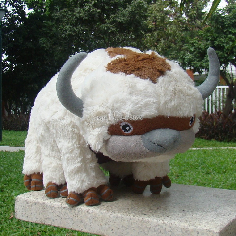 High Quality Plush <font><b>Avatar</b></font> 2 <font><b>Aang</b></font> Resource 45CM Appa Stuffed Animal Fluffy Toys Cuddly Doll image