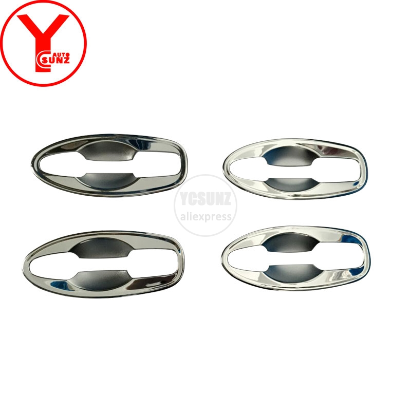 YCSUNZ ABS chrome car door handle protector insert For nissan terra accessories 2018 car auto parts For nissan terra 2018 2019
