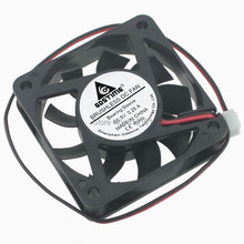 50PCS Gdstime Quiet 60mm PC CPU Cooling Fan 5V 2Pin 6015 6cm Computer Case Cooler 60x60x15mm цены