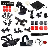Jacqueline for Accessories Kit set for Gopro hero 6 Session 5 4 3+3 for SJCAM SJ5000 SJ6000 for EKEN H9R for SOOCOO