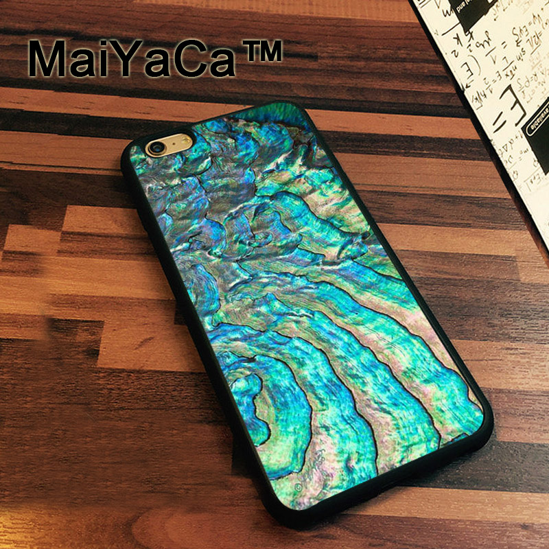 MaiYaCa Iridescent Abalone Sea Shell Cover Case For IPhone 7 Cases Cover For iPhone7 Soft TPU Silicone Phone Case Fundas Bags