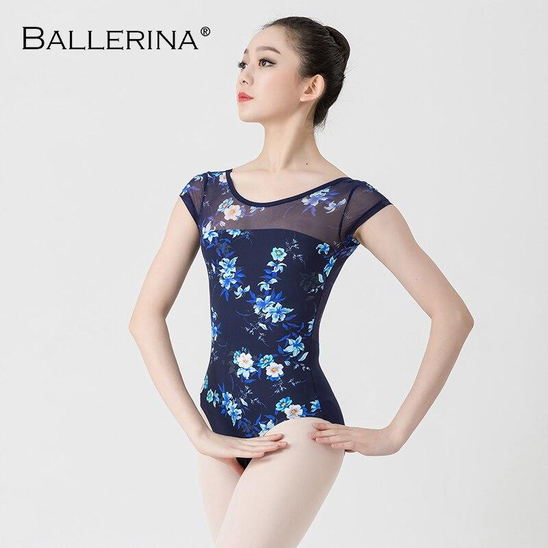 86b1101f35bc Leotardos de Ballet para mujeres Yoga danza Sexy entrenamiento profesional  gimnasia Impresión ...
