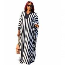 Afrika uzun Maxi elbiseler kadınlar için Dashiki elbiseler Bazin Riche geleneksel afrika uzun kollu giyim