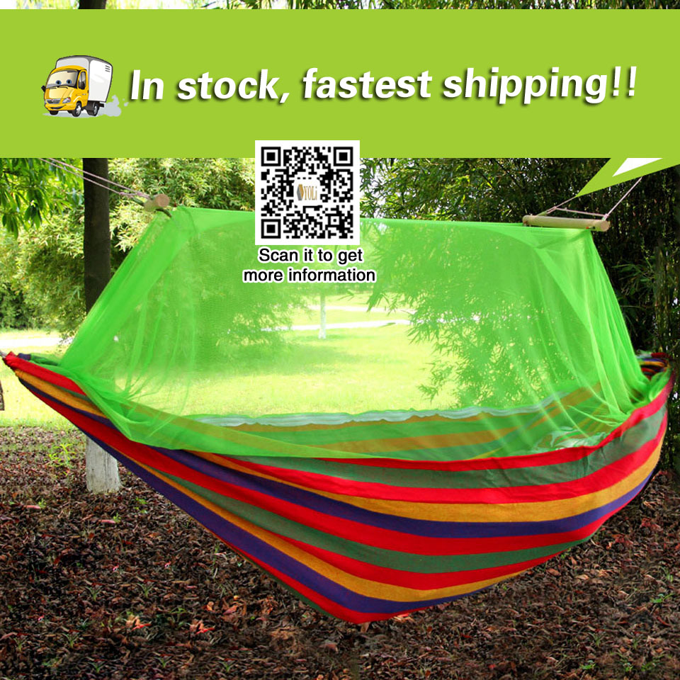 camping equipment Outdoor hammock double mosquito net camping hammock swing outdoor canvas hammock backpacking tent large hammock mosquito net portable outdoor encryption mesh fit all outdoor hammock camping easily installed outdoor equipment