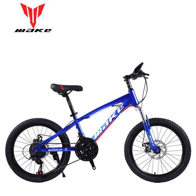 """Горный велосипед MAKE 20 """"21 скоростные дисковые тормоза стальной каркас для детского велосипеда"""