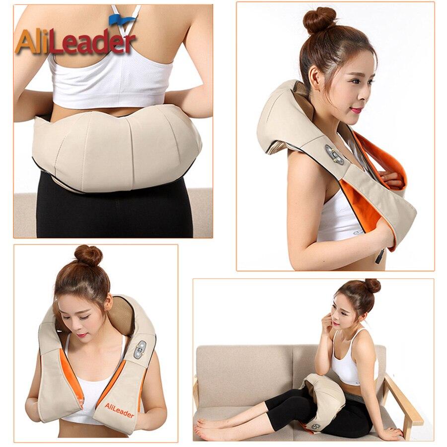 Alileader Comfortable Portable Massage Pillow 8 Massage Heads With Warm Heat For Back Neck Shoulder Abdomen Cellulite Massager - 6