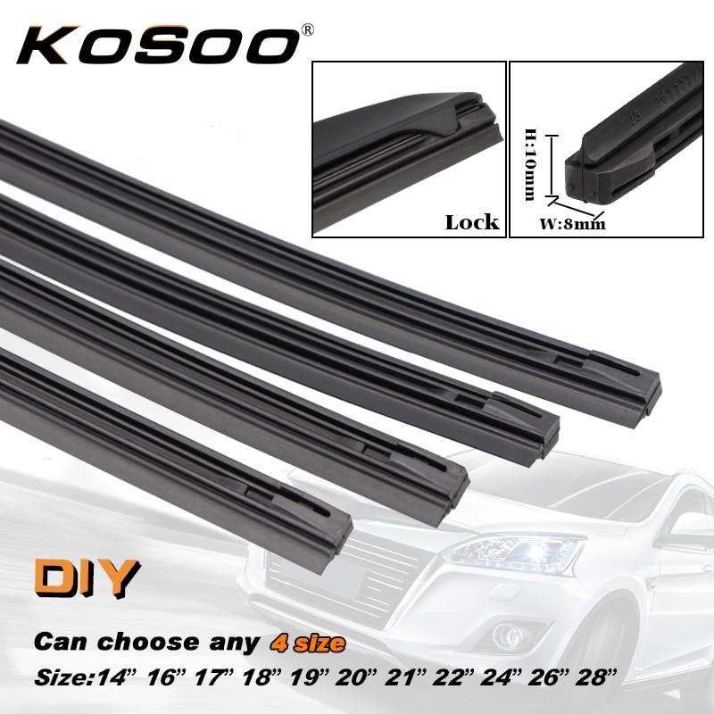 "8mm Soft 14/"" 16/"" 17/"" Refill KAWOO Car Vehicle Insert Rubber strip Wiper Blade"