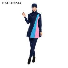 High elasticity Modest swimwear Long sleeve hijab swimsuit Islamic Beachwear Swimsuit Sport Clothing Burkinis Wholesale