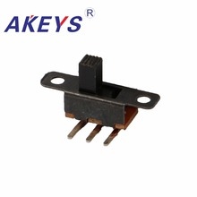 20PCS SS-12F22 1P2T Single pole double throw slide switch verticle type 3 pin bend without fixed