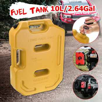 10L Fuel Tank Gas Canister Jerry Cans Red Yellow Green Plastic Gas Diesel Petrol Oil Containers Gasoline Mount Car Motorcycle
