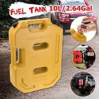 Recipientes para tanque de combustível  tanque de gasolina de 10l  latas de plástico vermelho  amarelo  verde  diesel  montagem a gasolina
