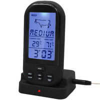 By Dhl Fedex 50pcs Lot Digital LCD Wireless Remote Kitchen Oven Thermometer Food Cooking Meat BBQ