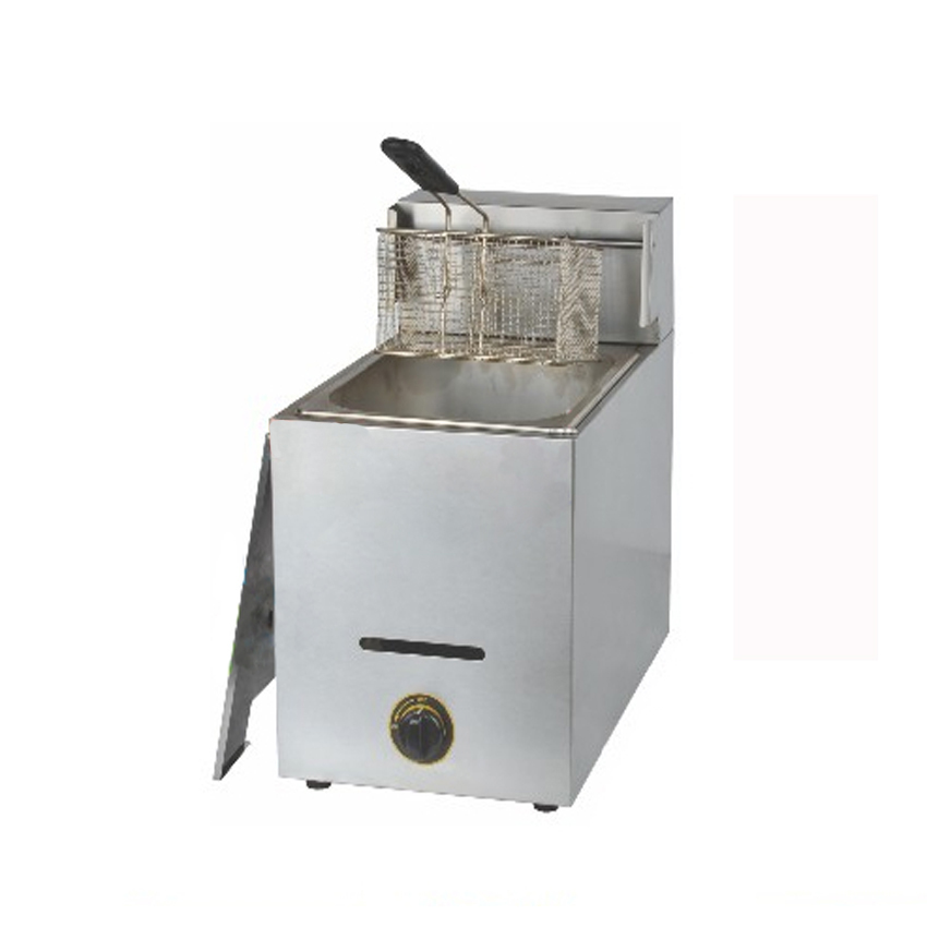 1PC Single cylinder Gas fryer, commercial fryers, donut machine, french fries machine, fried chicken fryer fries machine thick single cylinder electric fryer commercial electric fryer fried chicken oven fries fried squid machine dedicated