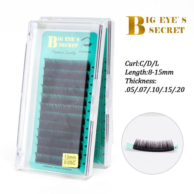 7f96dcd9119 Big eye's secret Lashes L curl Individual Eyelash Extension Faux Mink  Eyelashes Korean Silk Eye Lash Extensions Volume Lash