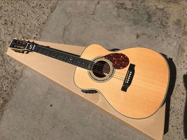 2019 hot guitar free shipping AAA best quality OM guitar Ebony Fretboard bridge OM body signature acoustic electric Guitar
