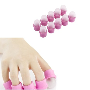 10 Pcs/lot Nail Polish Gel Remover Cleaner Wearable Acrylic Nails Clip Art Soaker Caps UV Gel Tool Resurrection JW202 artificial nails