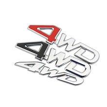 Zlord Car Rear Side 4WD Sticker 3D Chrome Badge Decal Stickers for Nissan X-trail Qashqai Murano Juke Kicks for Mazda стоимость