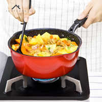 Justcook Non-stick Frying Pan Wok Style Pan Frying Steak Egg Pan Stone Cooking Pot General Use for Gas and Induction Cooker
