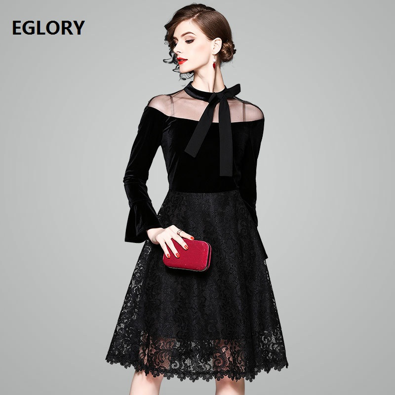 High Quality Brand New 1950s Style Rockabilly Dress Women See Through Mesh Velvet Lace Design Vintage 60s Party Drsses Black welity womens rertro vintage mesh see through high waisted black bikini halter