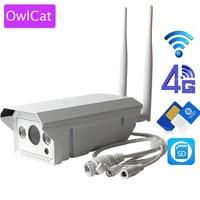OwlCat Hi3518E 3G 4G SIM Card IP Camera Full HD 1080P Bullet Outdoor Waterproof AP Wireless