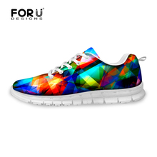 FORUDESIGNS Fashion Men Flat Shoes Comfort Breathable Lover Shoes Boys Girls Casual Walking Shoes Zapatos Mujer Hombre Lace-up