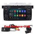 Quad Core 1024x600 2 Din Puro Android 5.1 DVD Do Carro para BMW E46 M3 Wifi 3G Bluetooth Radio RDS USB SD volante Livre câmera