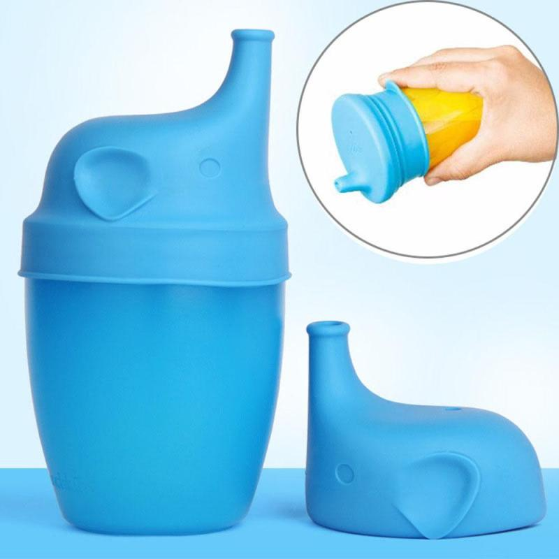 5 Colors Baby Sippy Cup Lid Water Bottle Lids Silicone Tasse Mug Cover children learn Drinking Tool Drinkware Baby Feeding D25 240ml baby trainer feeding bottle straw cup baby kids children drinking bottle sippy cups with handles