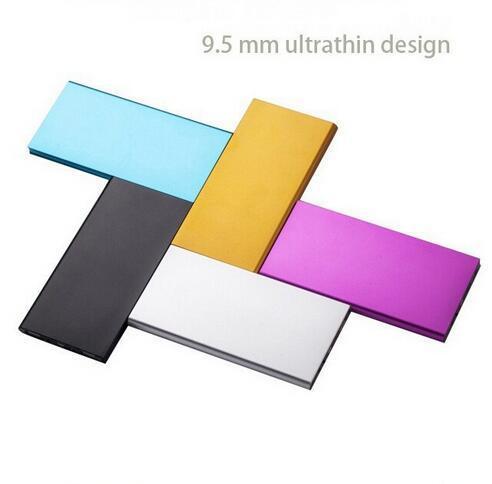 9mm ultrafino de alumínio 10000 mah banco de potência portátil 8000 mah carregador de bateria externa pack para iphone samsung telefones