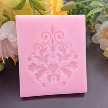 4YANG 1 piece Border Silicone Mold Fondant Cake Decorating Tools Chocolate Gumpaste Baking Molds
