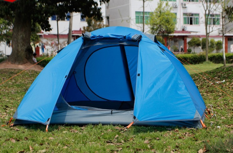 Aluminum Rod 2 Person Tent Cheap 210*140CM Waterproof C&ing Tent Color Can Choose Free shipping-in Tents from Sports u0026 Entertainment on Aliexpress.com ... & Aluminum Rod 2 Person Tent Cheap 210*140CM Waterproof Camping Tent ...