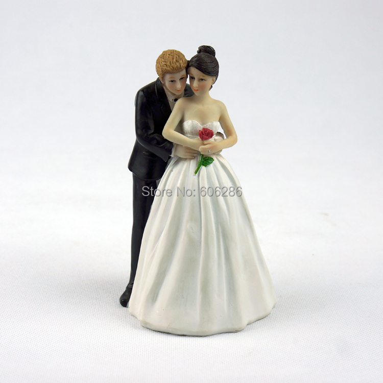 wholesale wedding cake toppers 10pcs lot resin and groom wedding 1391