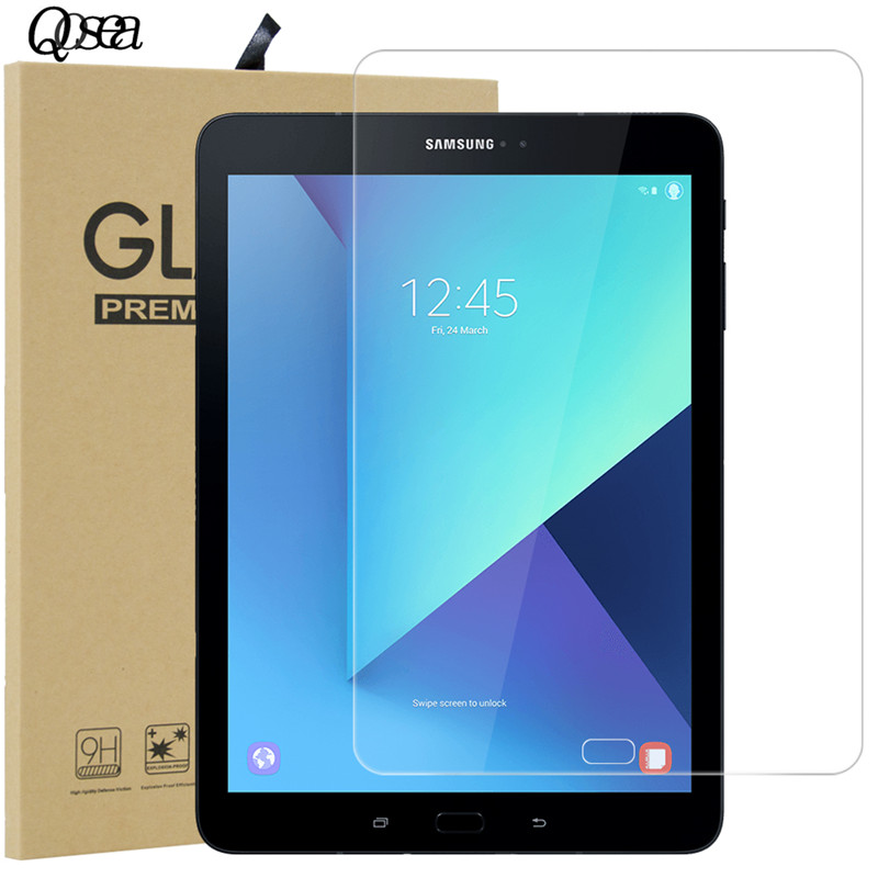 Qosea 9H Tempered Glass For Sumsung Galaxy Tab S3 9.7 Clear Protective Film Explosion-proof Screen Protector For Sumsung Tab S3
