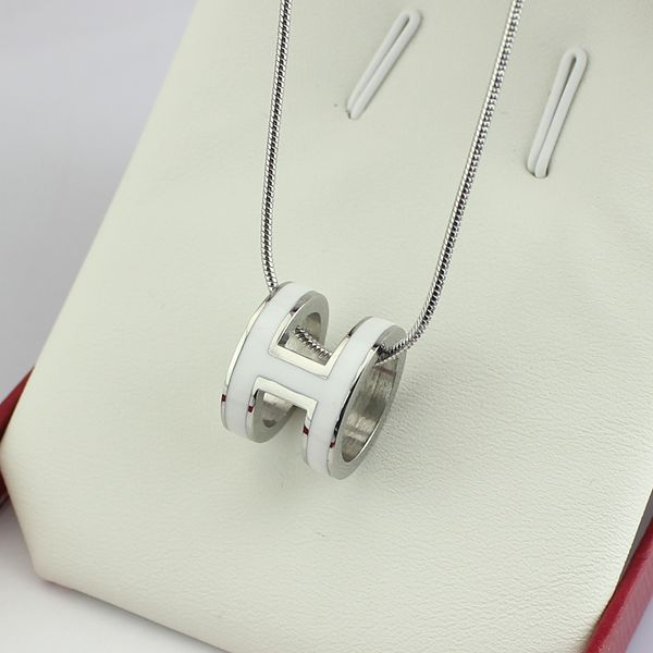 high quality 316 stainless steel h letter pendant necklace for women (9)