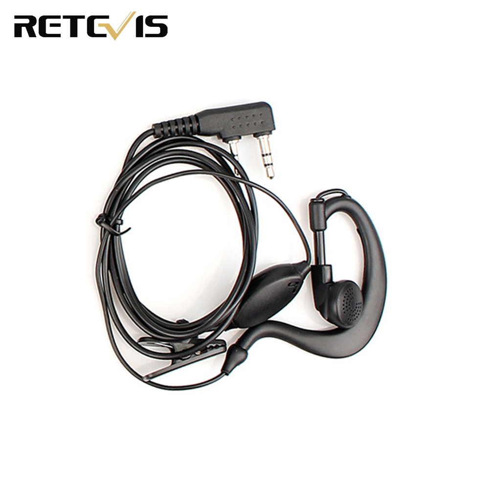 2 PIN Radio Earpiece Headset For KENWOOD BAOFENG UV5R BF-888S Retevis H777 TYT Ham Radio Walkie Talkie Hf Transceiver C011