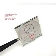 d1905a97f4f Frete Grátis 2mm Selecionado Tamanho 24 ~ 40mm Mineral Plana Rodada  Acessórios de Reparação do Relógio Relógio de Vidro de Crist.