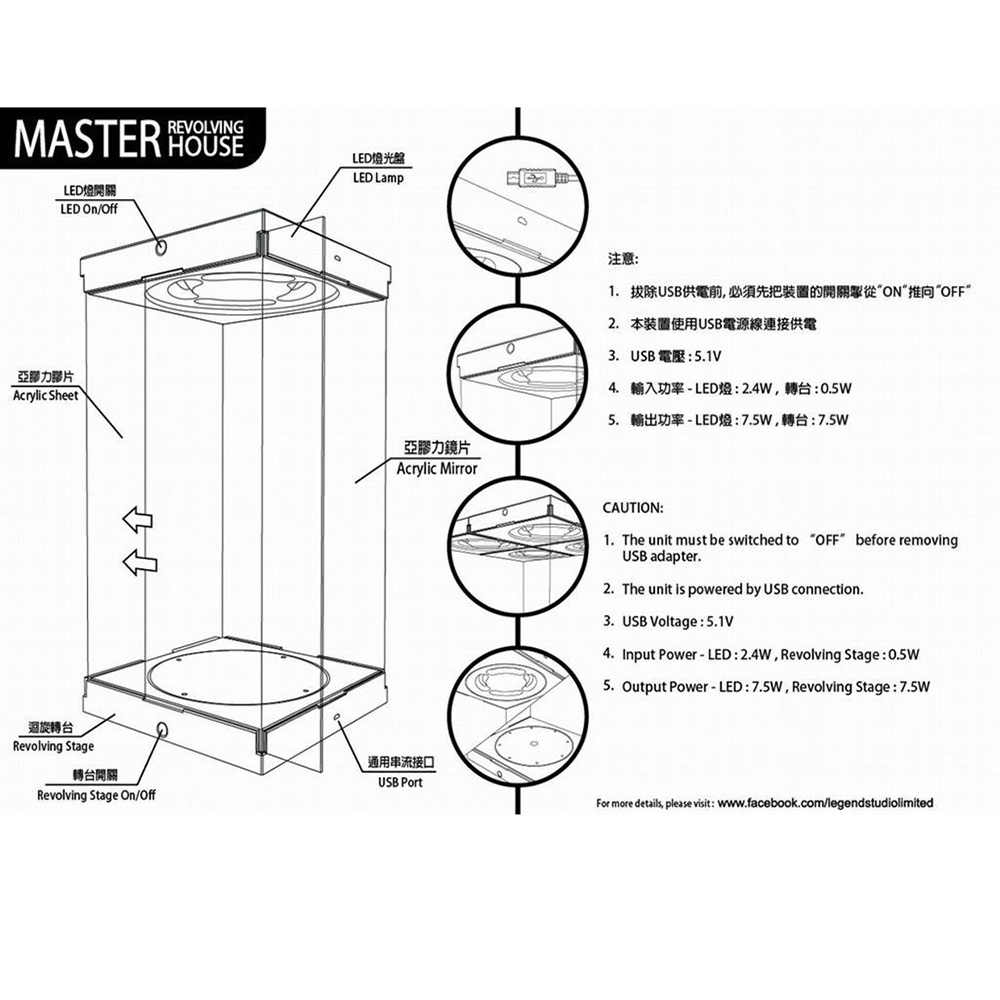 hight resolution of  1 6 master revolving house acrylic display case with lighting for 1 6 action