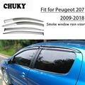 Chuky 4 шт. ABS Авто Стайлинг окна солнцезащитные козырьки тенты укрытия дождевой щит для Peugeot 207 2009-2018 автомобильные аксессуары