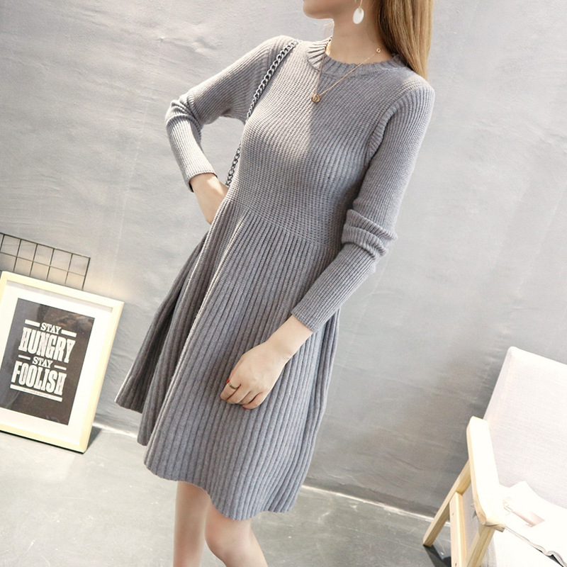 Autumn Winter Fashion Maternity Loose Knit Dress Long Sweater Dress Of Pregnant Women Loose Pregnancy Clothing maternity spring and autumn 2016 models long sleeved loose cardigan sweater pregnant women