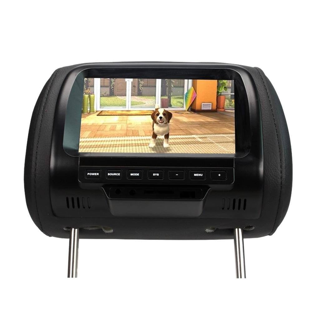 SH7038 7 Zoll Auto Monitor TFT LED Digital Screen-Monitor Kopfstütze-Player für Auto 2 Video eingang