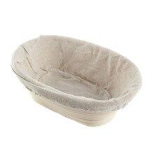 3 Tamaños Oval Dough Ratán Banneton Brotform Pan Cestas De Pruebas