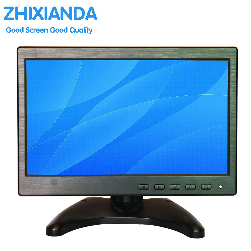 10.1 Inch CCTV Security Monitor Color Screen Display 1024*600 HD Wide Viewing Angle with Speaker AV/VGA/HDMI/BNC/USB Input ...