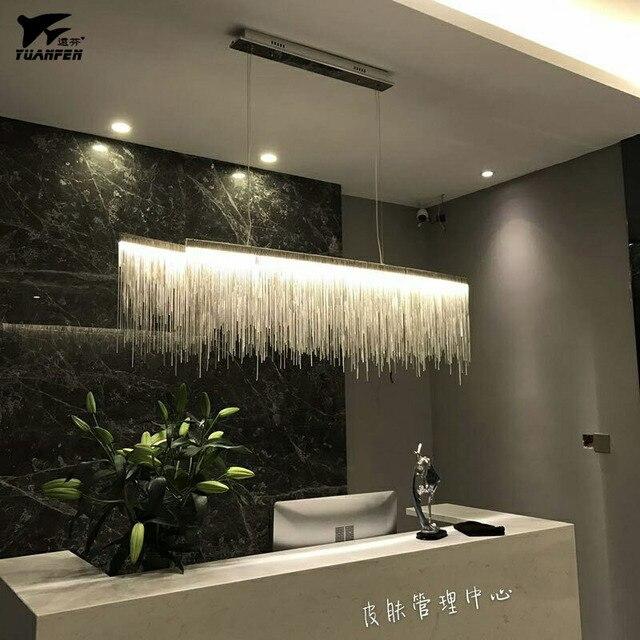 Luxe kwastje aluminium ketting Hanglampen voor slaapkamer woonkamer ...