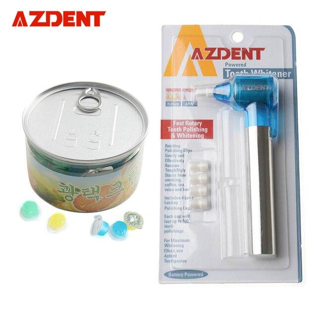 AZDENT Dental Para Blanquear Los Dientes Burnisher Pulidoras Pulido + Pasta de Dientes Higiene Bucal la Higiene Bucal