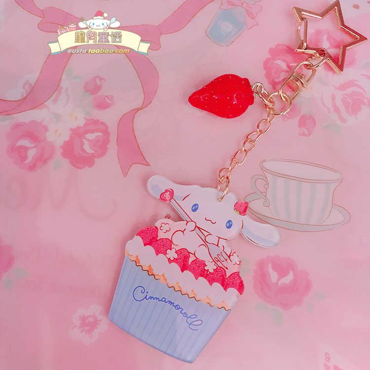 1 Pc Adorável orelha grande cão Cinnamoroll Keychain Dos Desenhos Animados Kuromi Chaveiro Boneca Meninas presentes