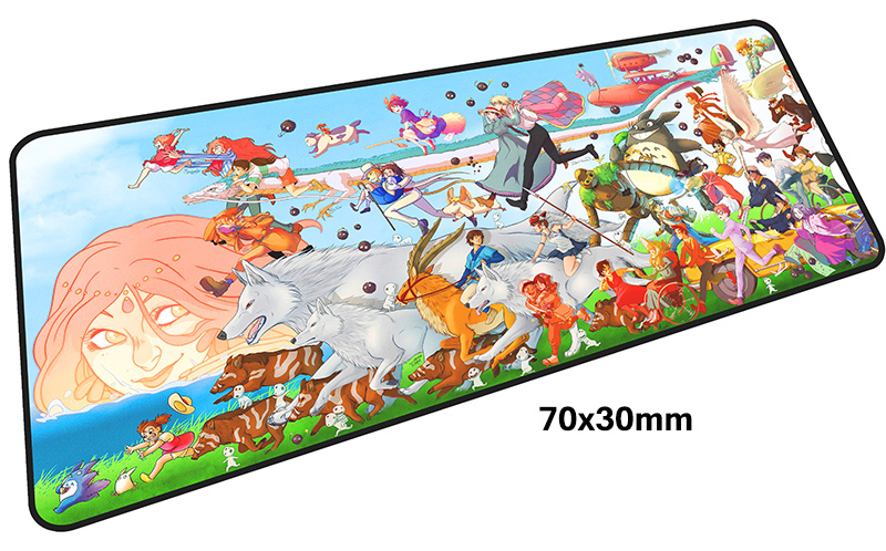 Tonari Totoro коврик для мыши computador gamer mause pad 700x300X4 мм padmouse Большой Аниме Коврик для Мыши Эргономичный гаджет бюро коврики