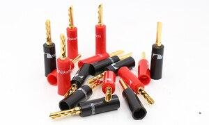 Image 2 - Conector de cable de altavoz de alta calidad Nakamichi chapado en oro de 24k BFA 4mm Banana Plug hifi, 16 piezas