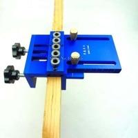 Высокая точность Дюбеля Джиги Дюбеля Линь джиг комплект деревообрабатывающий инструмент DIY деревообрабатывающий столярных 3 в 1 бурения ло
