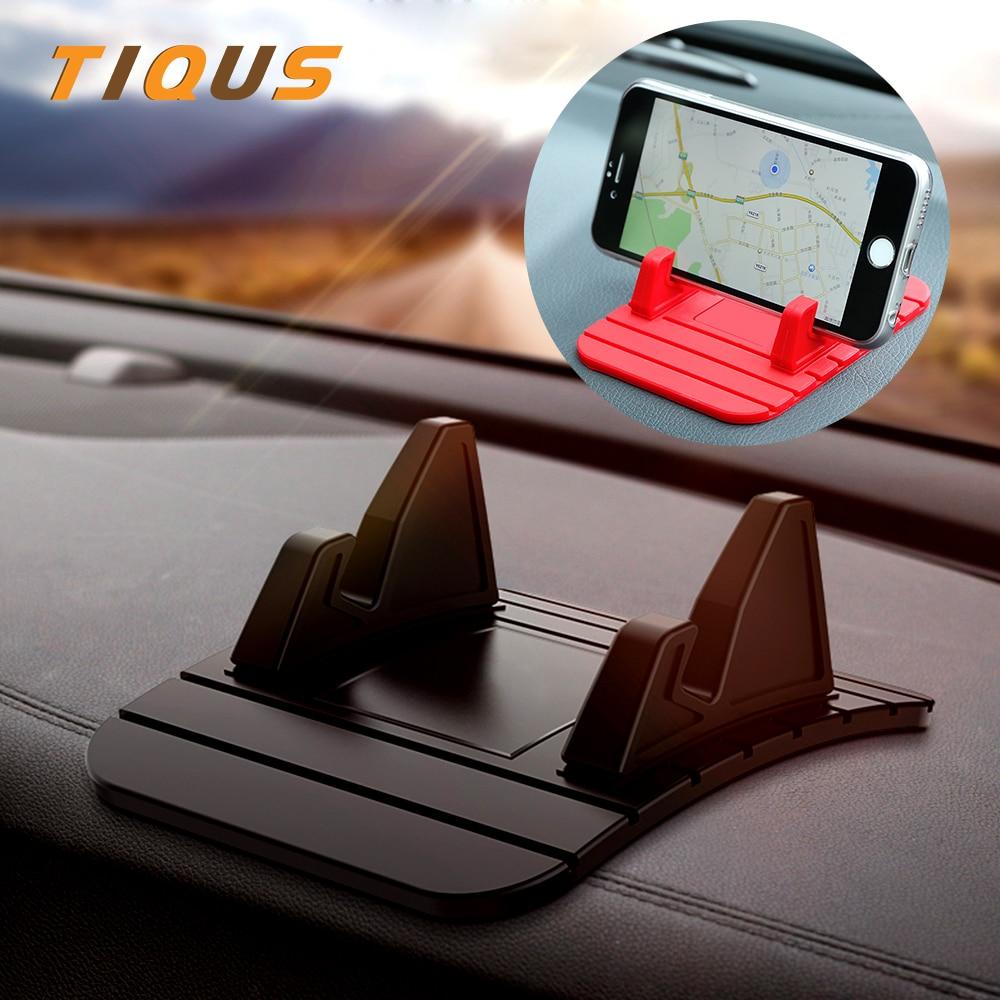 TIQUS автомобильный держатель мобильного телефона Подставка gps мягкий силиконовый нескользящий материал настольная подставка кронштейн для iPhone X 8 7 samsung примечание 9