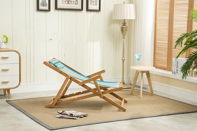 Adjustable Bamboo Beach Sling Chair Cavan Seat Home Indoor/Outdoor  Furniture Beach Folding Chair Modern Portable Camping Chair